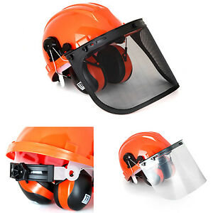 Safety Helmet Hard Hat Head Protection System Ear Muffs Industrial Work Protect