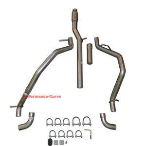 14 18 Chevrolet Silverado Gmc Sierra Dual Exhaust Cat back Side Exit Pipe Kit