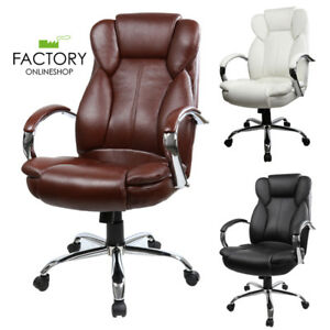 Pu Leather High Back Computer Ergonomic Executive Office Chair White black brown
