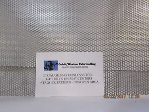 1 4 Holes 20 Gauge 304 Stainless Steel Perforated Sheet 11 X 11