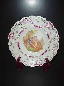 Porzellan Imperial Germany Bavaria Collector S Plate Courtship Cabinet Plate
