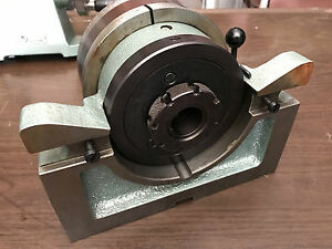 Bison 5824 4 Pneumatic Lathe Collet Chuck Head closer Used Good Shape