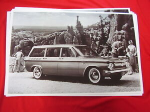 1961 Chevrolet Corvair Lakewood Station Wagon 11 X 17 Photo Picture
