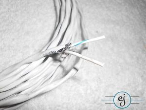 30 Feet Of M27500 16ml2t Aircraft Cable Silver Teflon 16 2 Wire