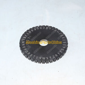 6mm Letter Wheel For Semi automatic Sheet Embosser Metal Stamping Printer