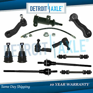 11pc Complete Front Suspension Steering Kit For Express Gmc Savana 2500 3500 2wd