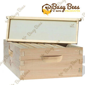 Langstroth Bee Hive 8 Frame Medium Box W Frames And Foundations