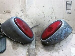 1948 Packard Taillight Set With Housings