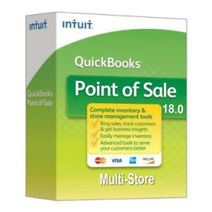 New Intuit Quickbooks Point Of Sale Multistore V18 1 User Trusted Reseller
