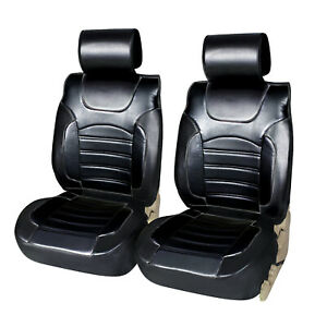2 Pu Leather Car Seat Covers Cushion Compatible To Infiniti 1209a Black