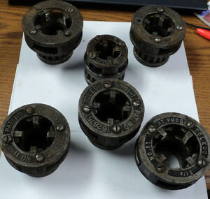 Lot Of 6 Toledo Pipe Threading Bolt Die Heads