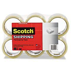 Scotch Mmm3350xw6 Shipping Packaging Tape 2 83 X 54 6 Yards Clear 6 Per Pack