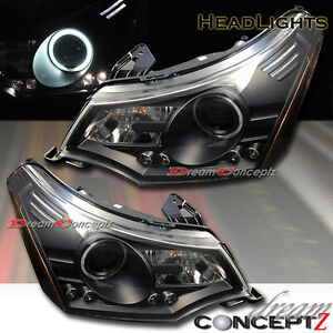 Ccfl Single Halo Black Headlights W Led For 2008 2009 Ford Focus Pair
