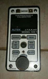 Altek 322 1 Thermocouple Calibrator W Altek Case