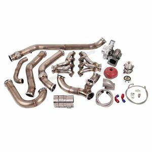 Single Turbo Header Manifold Downpipe Wastegate Kit For 68 72 Chevelle Ls1 Lsx