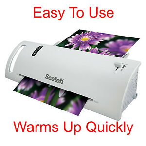 Scotch Thermal Laminator Laminating Machine 2 Roller System Fast Warmsup 3 5 Mil