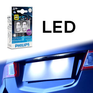 Philips 6000k Genuine T10 W5w Led Bulbs For Side Markers Park Lamp Cool White