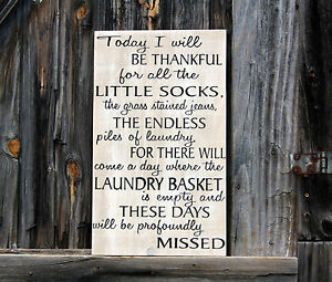 Large Primitive Wooden Sign Today I Will Be Thankful Nursery Rustic Farm House