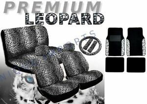 17 Piece Animal Print Seat Covers And Tw Full Animal Print White Black Leopard