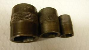 Vintage Snap On 5 8 1 2 3pc Sae 6pt Sockets Dated 1927 1928