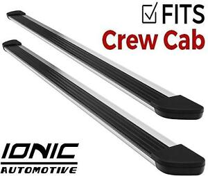 Ionic Gladiator Brite Fits 2009 2013 Dodge Ram Crew Cab Running Boards Steps