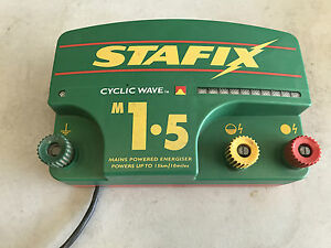 Stafix Cyclic Wave M1 5 Electric Fence Energiser Up To 10 Miles Of Fencing Used