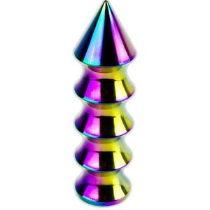 Spiked Neo Chrome Shift Knob For 5 Speed Short Throw Shifter Lever 10x1 5