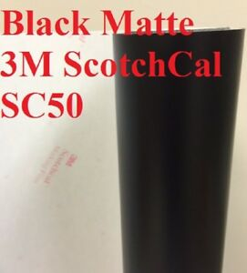 24 X 50 Yards Black Matte 3m Graphic Sign Cutting Vinyl Scotchcal Sc50