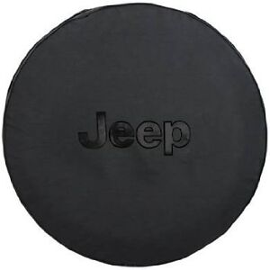 Black Cloth Spare Tire Cover Jeep Wrangler Liberty Mopar Oem Oem Brand New