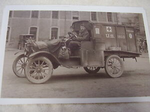 Ford Model T Us Army Truck First Aid Ww1 11 X 17 Photo Picture
