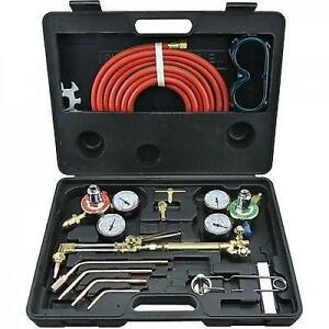 Victor Type Gas Welding And Cutting Kit Portable Acetylene Oxygen Torch Set New