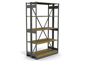 Lozier Wooden And Metal Backroom S Series Shelving Sections 8 10 Tall