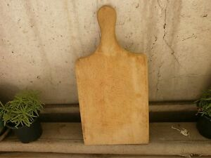 Antique Vintage Primitive Wooden Wood Bread Cutting Board Dough Plate 3