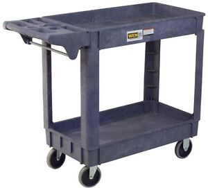 Rolling Wheeled Warehouse Tool Storage Mechanics Utility Service Push Pull Cart