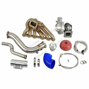Cxracing Single Turbo Manifold Downpipe Kit For 2jzgte 08 16 Genesis Coupe Swap