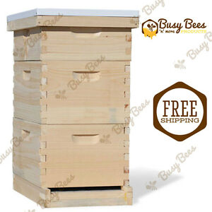 Langstroth Bee Hive 8 Frame 2 Deep 1 Medium no Frames Or Foundations