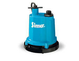 Simer 2300 1 4 Hp Submersible Utility Pump Cast Aluminum