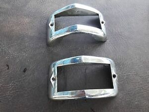 Tail Lights Vintage Pair Backup Brake Chrome Bezel Look Like Early Mercury