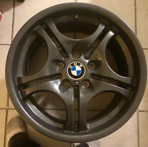 Oem Set Of 4 m3 Bmw 17 Rims 7 5 8 5 Stag Wheels Powder Grey Refurb M3