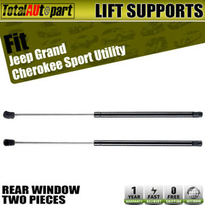 2x Rear Window Lift Supports Shock Struts For Jeep Grand Cherokee Zj 1994 1998