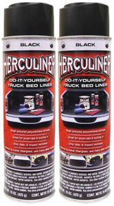 Herculiner Black Spray On Truck Bed Liner 15 Oz 2 Pack Pekhalb15 2pk
