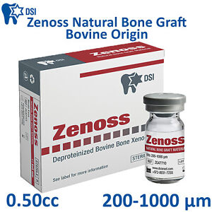 Dsi Zenoss Dental Implant Natural Bone Graft Material Bovine Sterile 0 50cc Ce