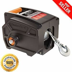 Electric Winch Towing 12 Volt Portable Boat Atv Truck Trailer 2 6000lbs Remote