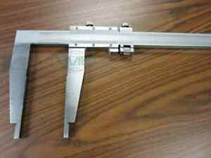 60 Heavy Duty Vernier Caliper stainless W Fine Adjustment 7 Jaw Depth new