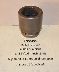 1 15 16 Inch Proto Professional Usa 1 Inch Drive New Standard Impact Socket