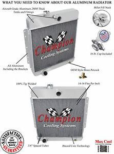 1949 56 Cadillac Champion Cooling Ca 3 Row Aluminum Radiator Series 60 S