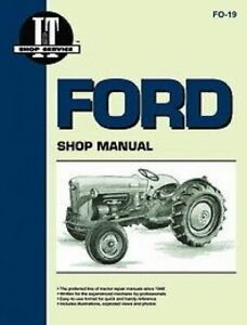Made To Fit Ford I t Shop service Manual Naa jubilee Golden Jubilee
