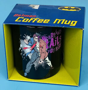 Batman Coffee Mug Cup 12oz Two Face Heads I Win Tails You Lose NEW Gotham Batman