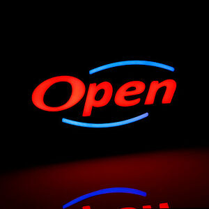 Open Led Light Sign On off Switch Adjustable Lighting Mode Chain Included