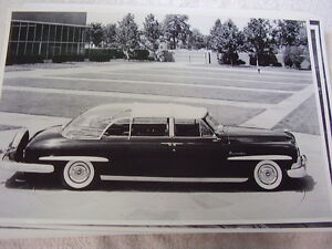 1950 Lincoln Presdents Limo 12 X 18 Large Picture Photo